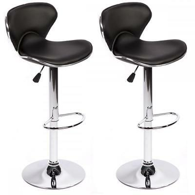 New Set Of 2 Adjustable Height Swivel Bar Stools w/ Base Counter Height Stools