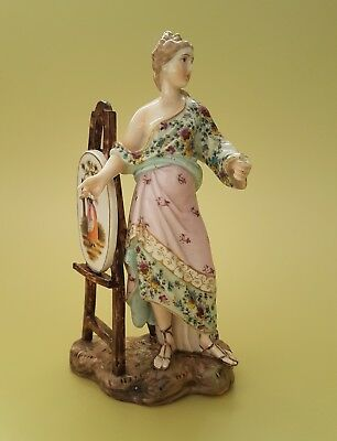 19th Century Volkstedt Thuringia porcelain Figurine of an artist 14.5cm