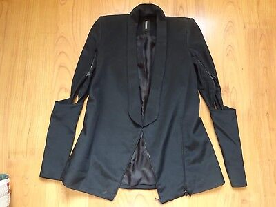 Dion Lee Twist Sleeve Black Blazer Jacket Size 6