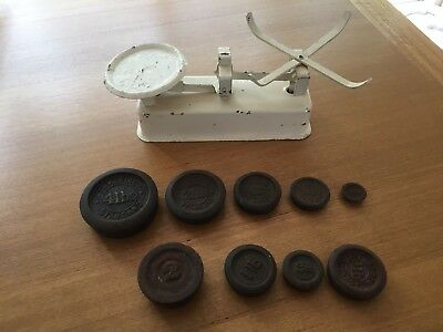 Antique Scales Weights weighing 2oz to 4lbs