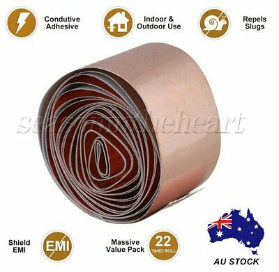 Copper Foil Tape Guitar Bass 30MM x 2M EMI Shielding Shield Conductive Adhesive