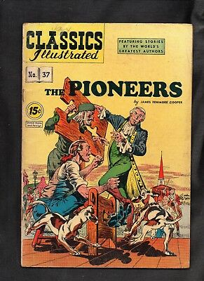 Classics Illustrated #37 G+   Hrn92  (The Pioneers)  James Fenimore Cooper