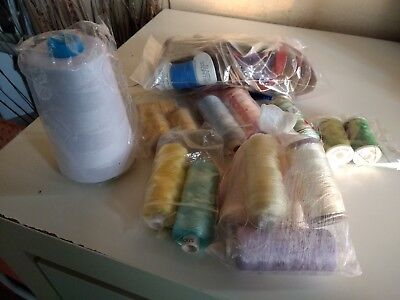 Job lot of Sewing thread and Elastic