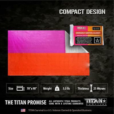 Titan Emergency Signal Panel Foil Survival Blanket Bushcraft Survival First Aid