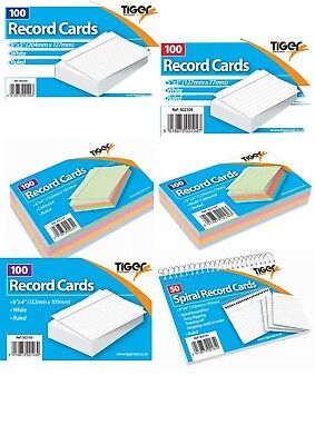 HIGH QUALITY TIGER REVISION CARDS FLASH CARDS/SCHOOL EXAM / GCSE/ A LEVEL /UNI s