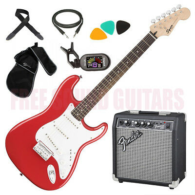 FENDER Squier Bullet Stratocaster HT KIT AMPLIFICATORE + ACCORDATORE A CLIP