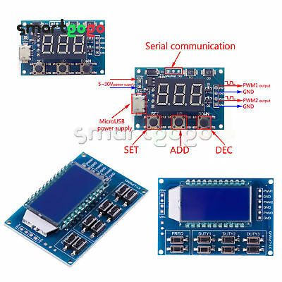 Signal Generator PWM Pulse Frequency Duty Adjustable Module LCD DisplayBSG
