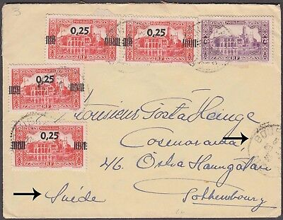 Algerie 5 Values With Surcharge On Nice Cover To Switzerland Scarce.