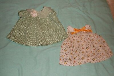 """Lot of 2 Antique """"Patsy"""" Style Dresses"""