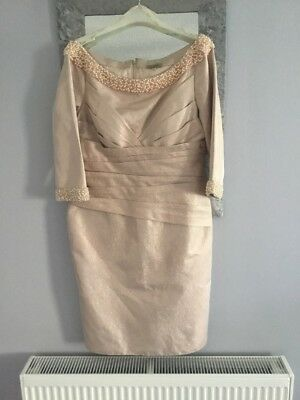Beautiful Mother Of The Bride Dress Pale Pink Shimmer With Beads Size 16