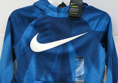 New Boys Nike Dri-Fit Therma Pullover Hoodie Size Medium NWT