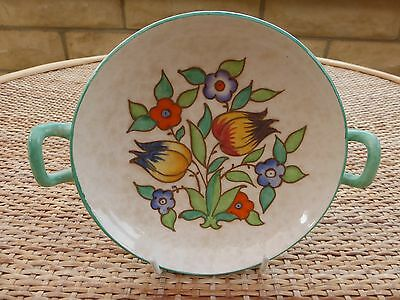 Charlotte Rhead Two handled dish in pattern TL14 in excellent condition