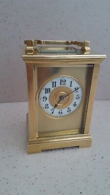 Large Antique Anglaise Corniche Masked Carriage Clock c1890