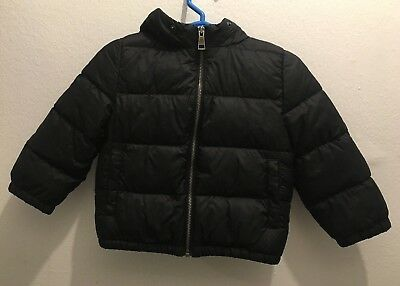 Authentic BURBERRY BABY Black Infant Boy Winter Coat- 12 Months