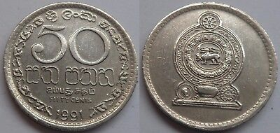 Sri Lanka 50 Cents 1991