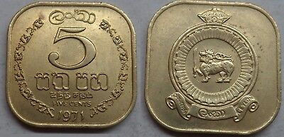 Sri Lanka 5 Cents 1971