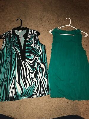 ladies lot of 2 size L large blouse tank tops