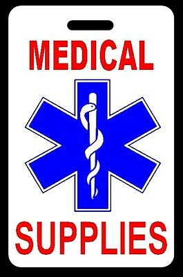 MEDICAL SUPPLIES Luggage/Gear Bag Tag - FREE Personalization - New