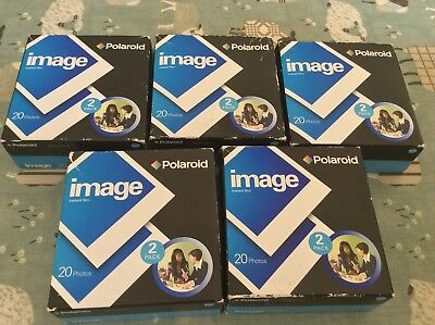5 X Unused Boxes Of Vintage Polaroid Instant Image Film . 5 2 Packs 20 Photos