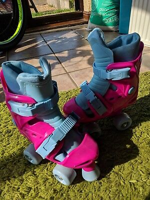 Adjustable roller boots, from size 13-1-2 (junior) very little use!