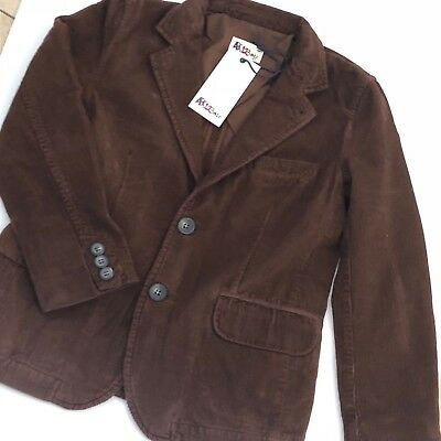 Boys Designer Brown Fitted Cord Jacket Age 10-11ABC123me New With Tags RRP£95.00
