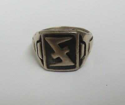 Armoured Panzer Tank Div Marinowka German WW2 Ring from Silver