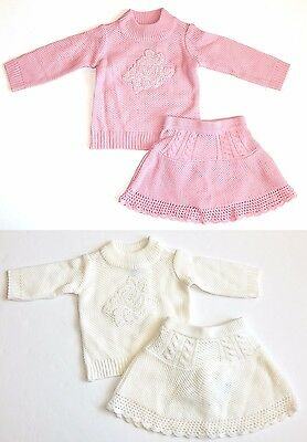 Childrens Place NEW Pink or Ivory 3 Piece Set Top Skirt Panty 6-9M 12-18M $33