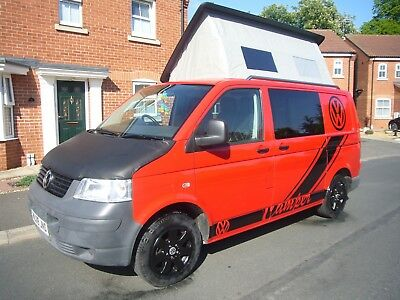 VW Transporter T5 4 Berth Family Campervan Fully Loaded Pop Top X Box Low Miles