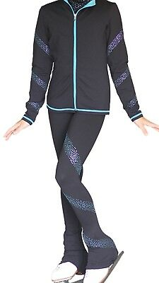 Chloe Noel Supplex Spiral Crystal Ice Skating Jacket & Leggings Child Age 10-12