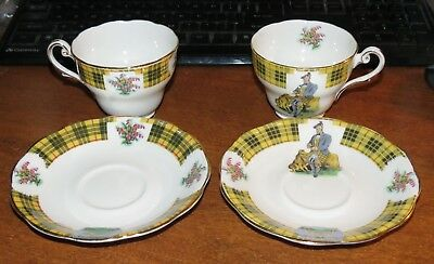 2 Royal Standard Bonnie Scotland Cups & saucers MINT!