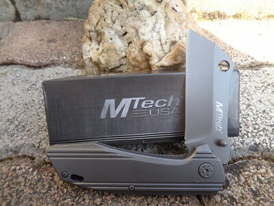 MTA1001GY Couteau Mtech A/O Tactical Street Fighter Le Boucher Acier 3Cr13 Manch