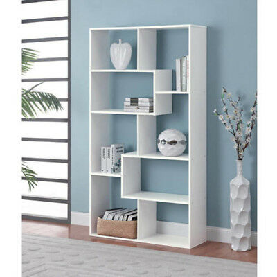 brown bookcase and bookmark two htm cubby six toned white