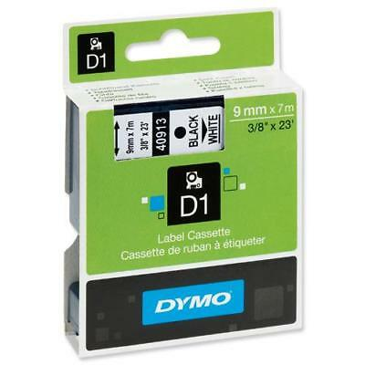 Dymo D1 S0720680 40913 9mm x 7m Black on White Tape Label Manager Genuine NEW