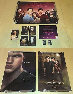Twilight San Diego Comic Con SDCC Breaking Dawn New Moon Posters Cards Pins Swag