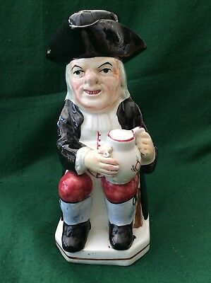 Antique Staffordshire Toby jug with lid (10.25 inches)