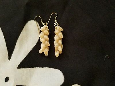 Niihau Shell Earrings - Ivory Color Shells This item was made in Hawaii