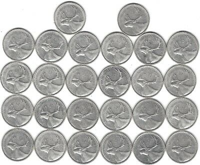 1961 Canada Silver Quarter Dollar 25 cent collection twenty-six (26) coins