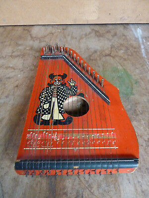 Ancienne Cithare      MUSIMA Markneukirchen enfants Zither clown germany