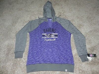reputable site 6638e d9f10 BALTIMORE RAVENS PULLOVER Hoodie Women's Xl Brand New With Tags!