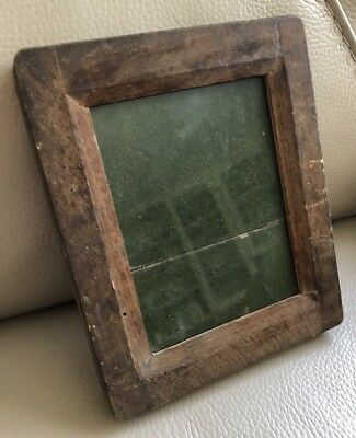 Antique Photo Frame French Wood Wooden Picture 19th Century Vintage Clip Closure