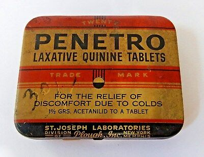 Vintage PENETRO LAXATIVE TABLETS - Includes All 20 Tablets - NOS