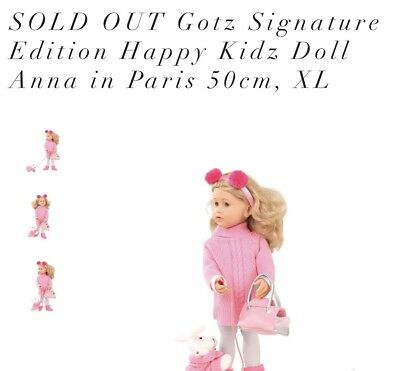 Gotz HAPPY KIDZ PLAY DOLL Anna Paris #2 Doll SOLD OUT !! BENDABLE LEGS /ARMS