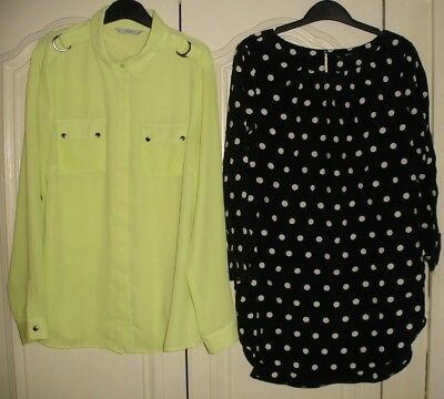 Women's Clothes Bundle size 10 * Lime top /shirt * Spotted top