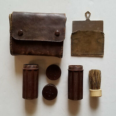 WWII WW2 Authentic Original US Army Military Shave Kit w/ Shaving Signal Mirror