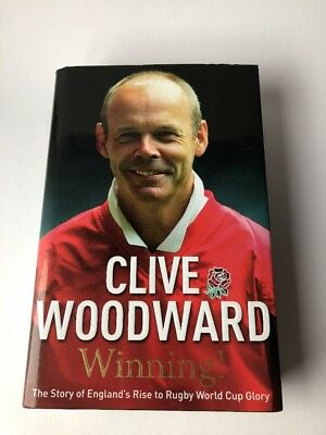 England 2004 World Cup Signed Copy of 'Winning!' Book by SIR Clive Woodward