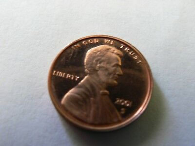 2001 S LINCOLN CENT,ungraded,uncertified,circulated. (proof)