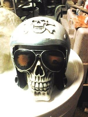 Cycle Helmet  Skull Mold Latex for Cement or  Plaster