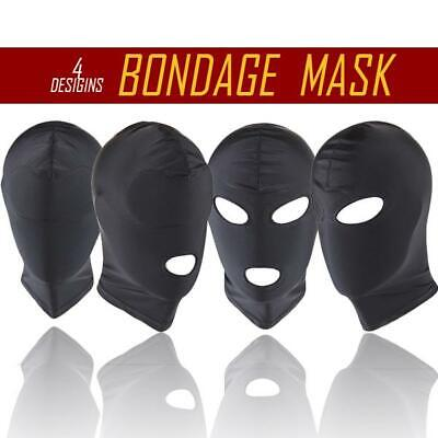 4 STYLE Mask Spandex Stretchy Gimp Hood Sport Party Fetish Hood Bondage Sports