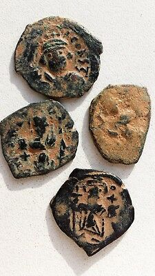 Lot of 4 Ancient Byzantine Bronze Coins.