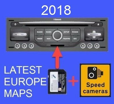 2018 Citroen Peugeot Sd Card Gps Update Europe Uk Maps Rneg Myway Wipnav +Alert